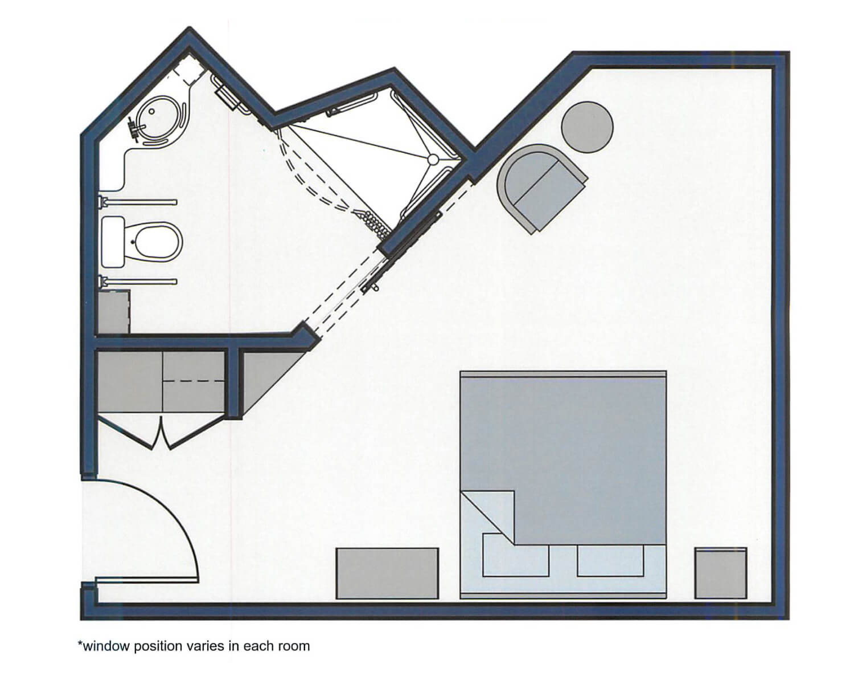 Sand Dunes floor plan - 290 sqft