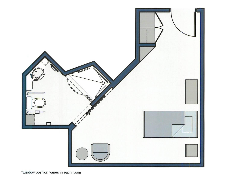 Sea Oats Floor Plan - 270 sqft.