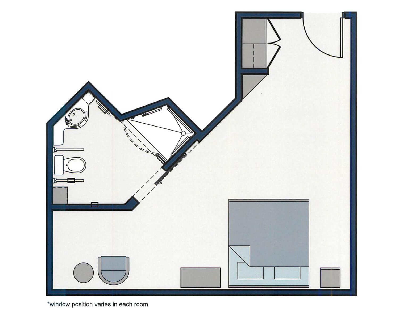 Windward Floor Plan - 320 sqft