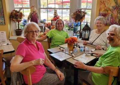 Breakfast Club Group of Four at Mease Life Retirement Home