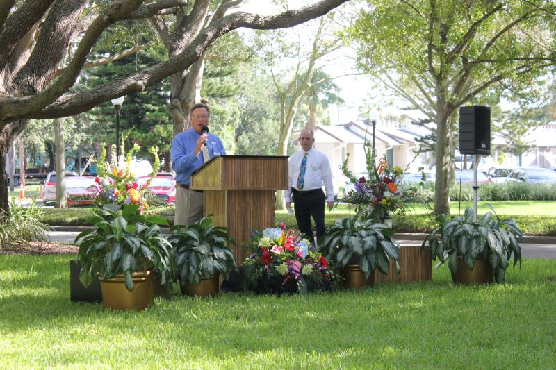 Man Giving a Speech at Mease Life Retirement Home