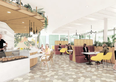 Painting of a Cafeteria at Mease Life Retirement Community