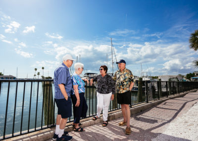 Group of Elderly People Hanging Out With Each Other Outdoors