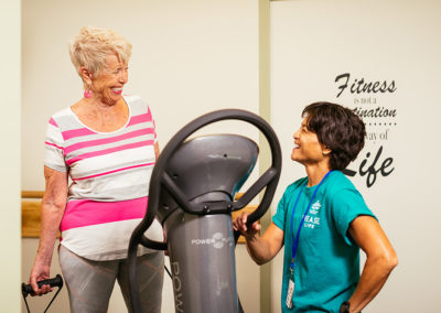 Elderly Woman Exercising at Mease Life